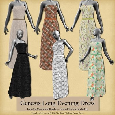 Genesis Long Evening Dress