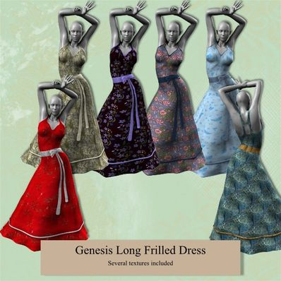 Genesis Long Frilled Dress