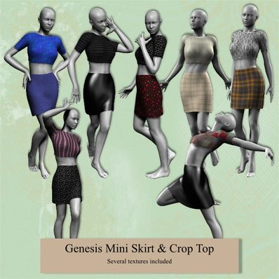 Genesis Mini Skirt & Crop Top