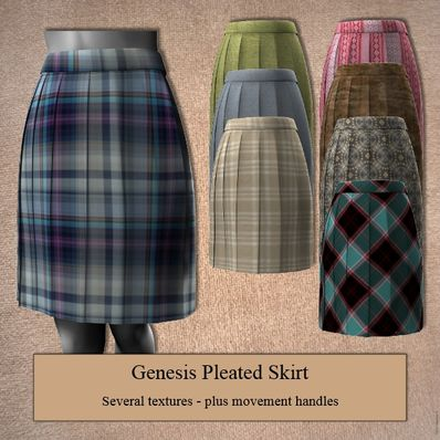 Genesis Pleated Skirt