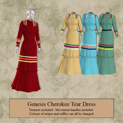 Genesis Cherokee Tear Dress