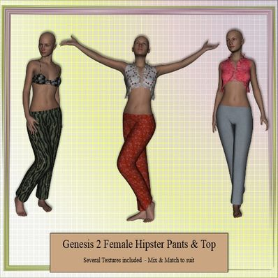 Genesis 2 Female Hipster Pants & Top