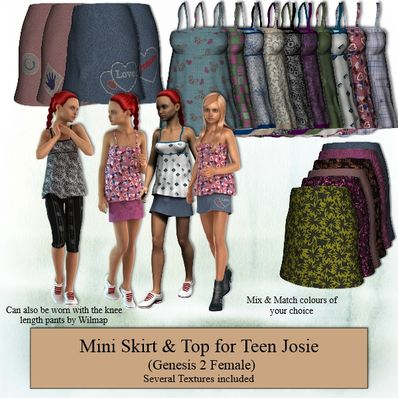 Genesis 2 Female Teen Josie Mini Skirt & Top