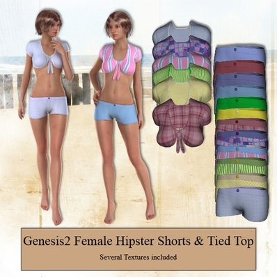 G2F Shorts & Tied Top