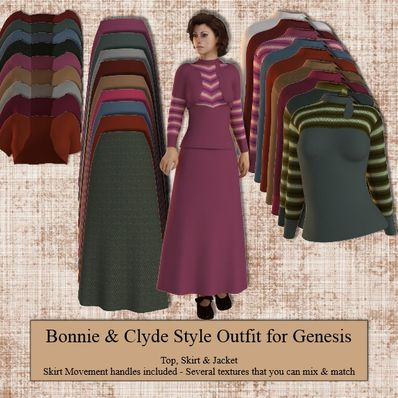 Genesis Bonnie & Clyde Style Dress