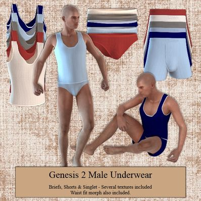 Underwear for Genesis 2 Male