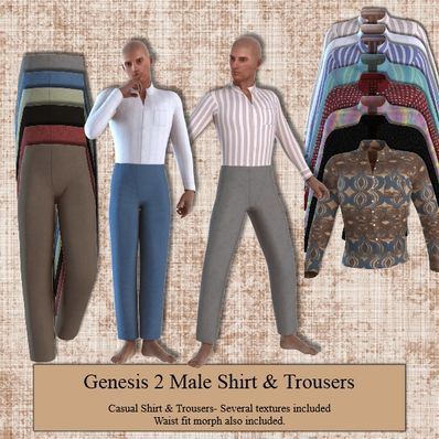 Genesis 2 Male Casual Shirt & Trousers