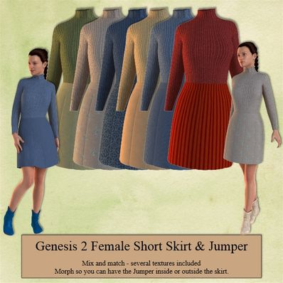 Genesis 2 Female Short Skirt & Jumper