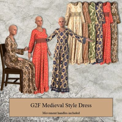G2F Medieval Style Dress