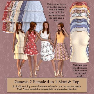 Genesis 2 Female RaRa Skirt & Top