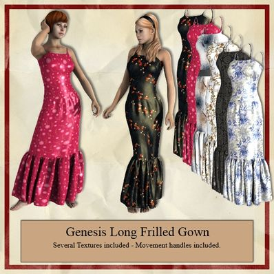 Genesis Long Frilled Gown