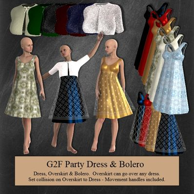 Party Dress & Bolero for Genesis 2 Female