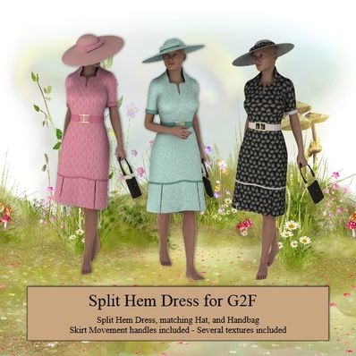 Split Hem Dress for G2F