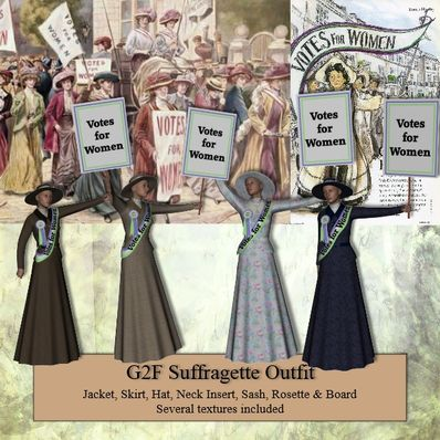 G2F Suffragettes Outfit