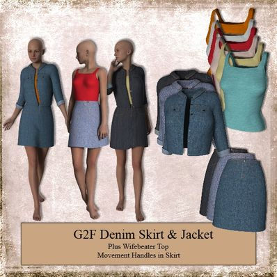 Denim Skirt & Jacket for G2F
