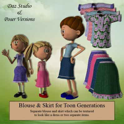 Blouse & Skirt for Toon Generations