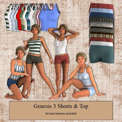Shorts & Top for Genesis 3 Female