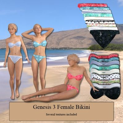 A Bikini for Genesis 3 Female