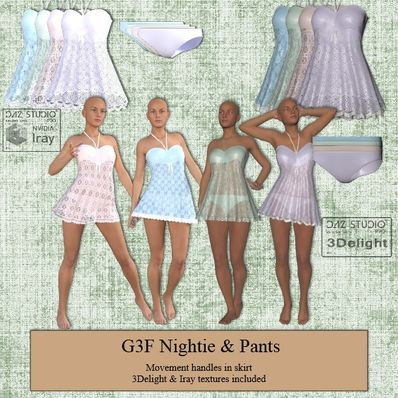 G3F Nightie & Pants