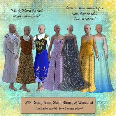 G2F Dress, Skirt & Waistcoat Set