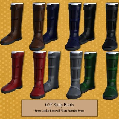 G2F Strong Leather Strap Boots