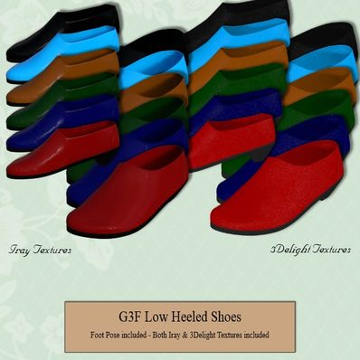 G3F Low Heeled Shoes