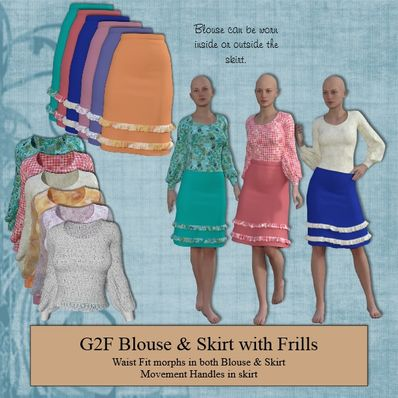 G2F Blouse & Skirt with Frills