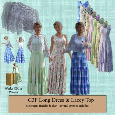 G3F Long Dress & Lacey Top