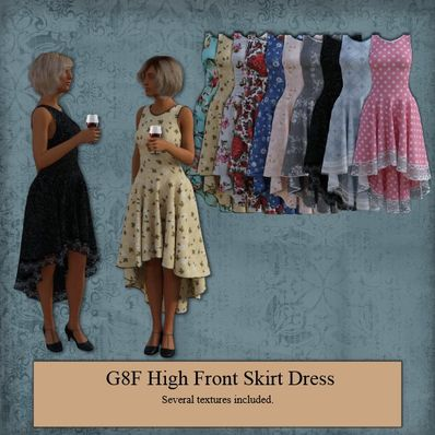 G8F High Front Skirt Dress