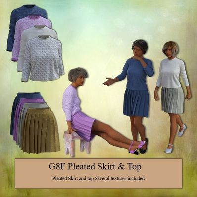 G8F Pleated Skirt & Top