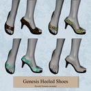 Genesis Buttoned Heeled Shoes