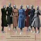 Genesis Knitted Cowl Dress