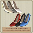 Genesis 2 Female Heeled Bow Shoes