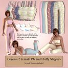 Genesis 2 Female PJs & Fluffy Slippers
