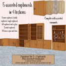 Furniture Set 5 - Cupboards & Ornaments