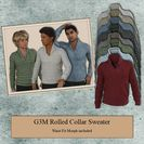 G3M Rolled Collar Sweater