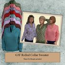 G3F Rolled Collar Sweater