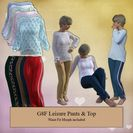 Leisure Pants & Top for G8F